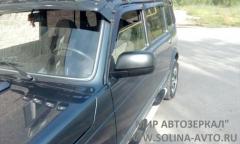 Зеркало ВАЗ 21214 НИВА нового образца тросовый привод, обогрев, ХРОМ