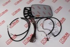 Комплект зеркальных элементов ВАЗ 1118 КАЛИНА Люкс /Лада Гранта/ с обогревом со жгутом для подключения
