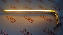 Молдинги верхние переднего бампера с ДХО и поворотником в стиле Лексус LADA Vesta